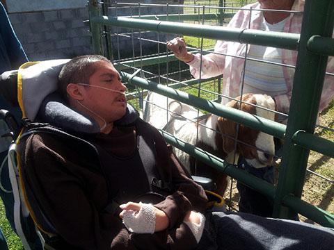 Santa Fe ranch and goat