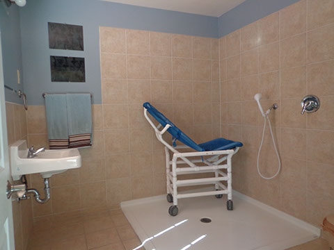 Home support with bathing assistance