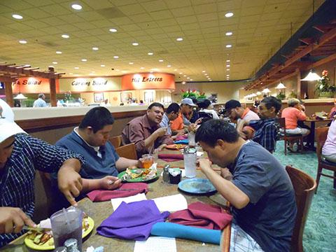 Eating at Diamond Buffet in Sahuarita