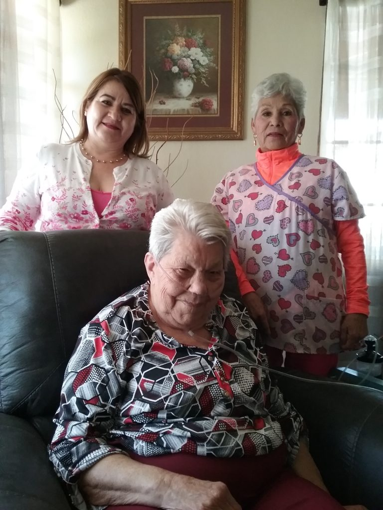 Ladies working at retirement group home