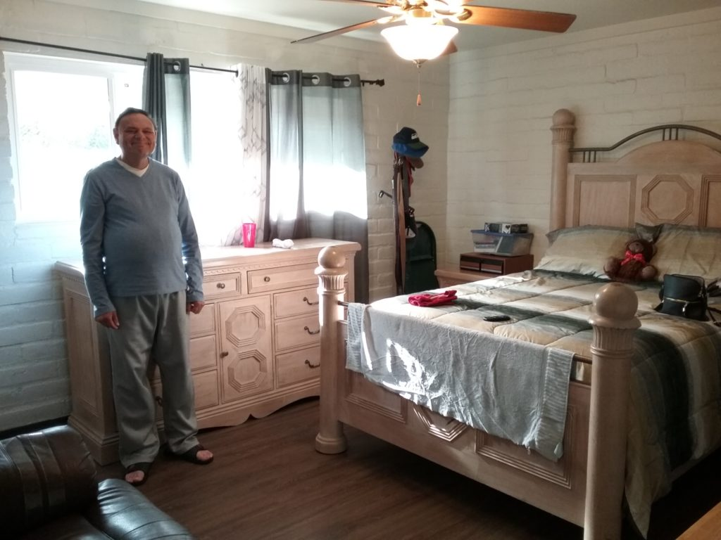 Cozy room of a member at group home