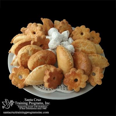 Large assortment platter of bakery items